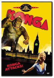 1961- Konga Movie DVD Cover (2005 MGM DVD)