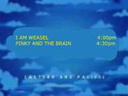 Toon Disney I Am Weasel To Pinky And The Brain
