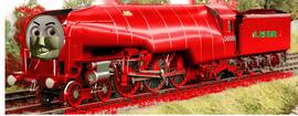 Warren the Big Red Engine