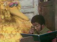 David sheds a tear after Big Bird reads a poem about caterpillars