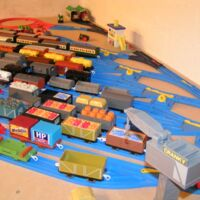 Trackmaster Train Track SCRUFF  Motorised Battery Engine fits Wooden Tomy