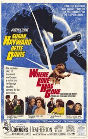 1964 - Where Love Has Gone Movie Poster