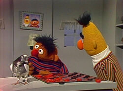 Bert plays Checkers