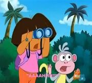 Dora and Boots Screaming