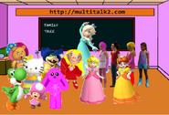 Hello yoshi & Princesses & Toadette in class