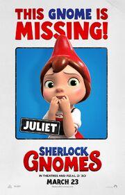 2018 - Gnomeo & Juliet - Sherlock Gnomes Movie Poster