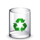 Crystal Clear filesystem trashcan empty