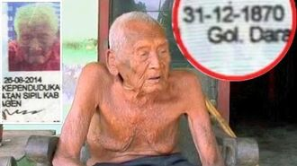 Mbah Gotho, 145 years old who claims he is the world's oldest man