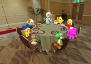Yoshi and friends at the diner