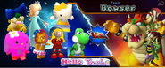 Hello Yoshi vs Bowser team