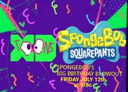 Disney XD Toons Spongebobs Big Birthday Blowout July 12