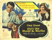 1948 - Every Girl Should Be Married Movie Poster