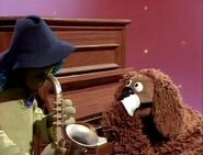 Rowlf starts to cry at the end of Theme from Love Story song