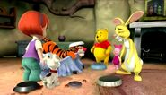 Rabbit crying after Tigger wrecked his table with his hiccups