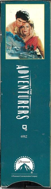 The Adventurers 1991 VHS (Spine Cover)
