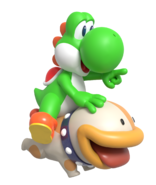 Yoshi and poochy render by nintega dario dd3bbqd