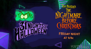 Disney XD Toons 31 Nights of Halloween The Nightmare Before Christmas Promo 2019