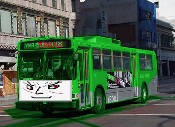 Larry the Evil Green Metro Bus