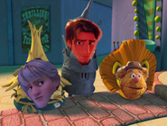 Kristoff, flynn rider and fozzie bear