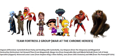 Team Fortress 2 groups (War at the Chrome Heroes)