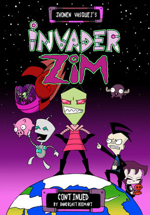 Invader Zim Continued Cover by BANG BLAST BOOM ART