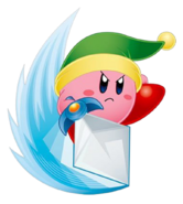 Kirby as Sword Kirby from Kirby Squeak Squad