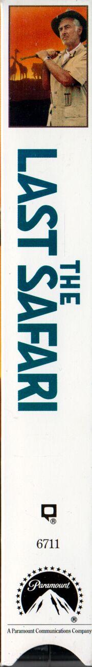 The Last Safari 1992 VHS (Spine Cover)