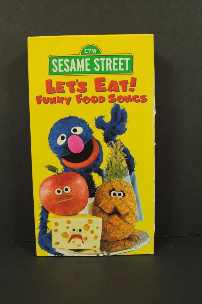 Sesame Street Let S Eat Funny Food Songs Vhs