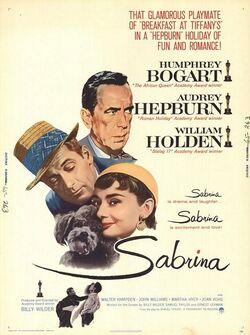 Sabrina 1954 poster