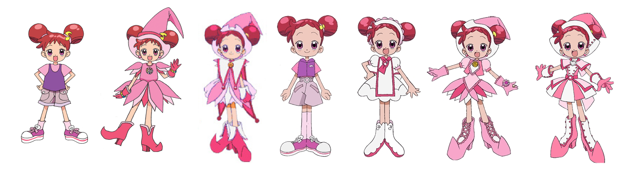 Doremi's uniforms and casual clothes