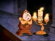 Lumiere and Cogsworth from Beauty and the Beast Preview