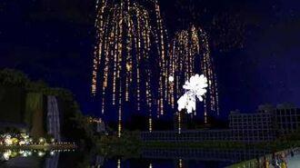 "RCT3 Fireworks Show - Blazing Rhythms (""Peeps"" View)"