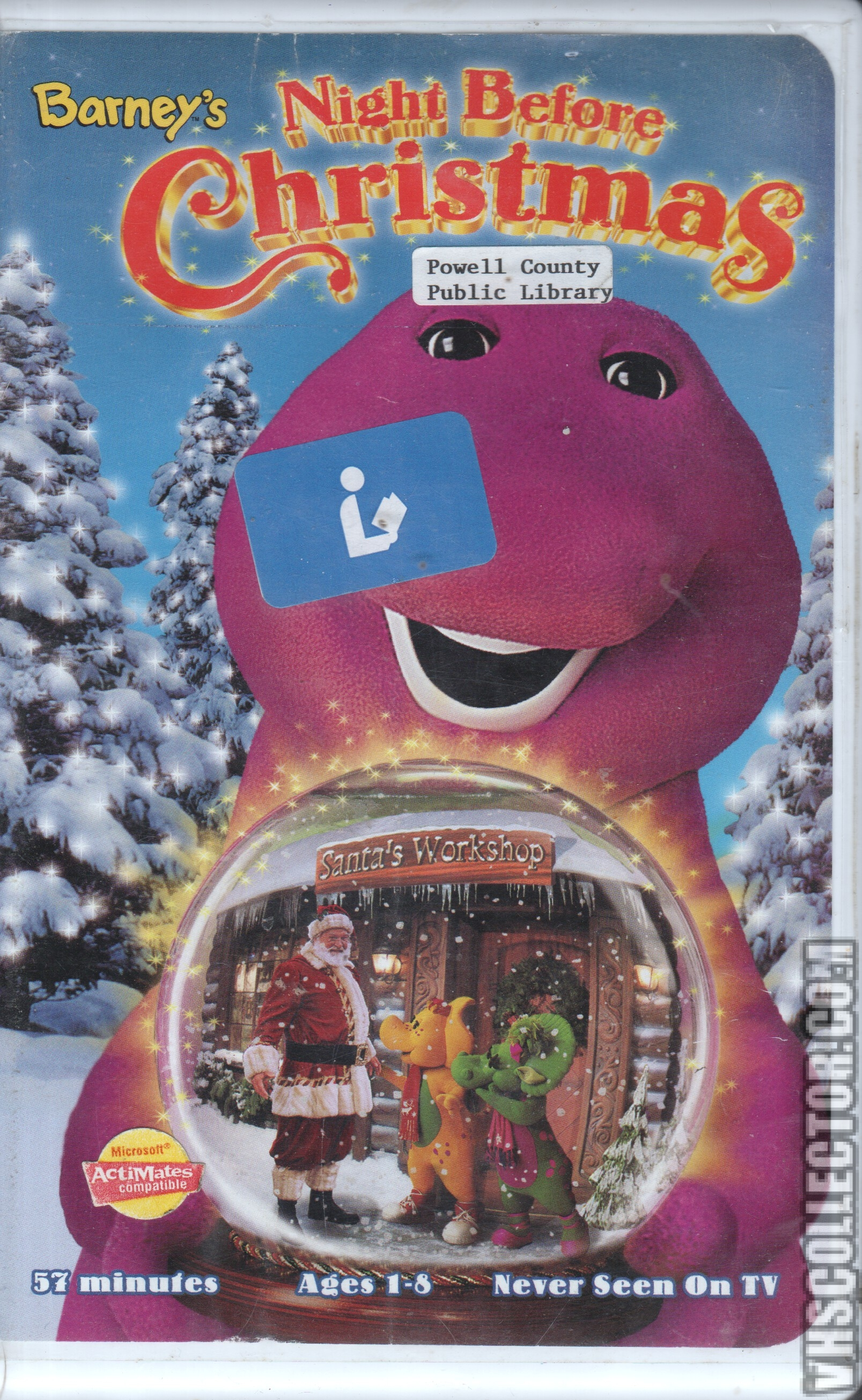 Image - Barney\'s Night Before Christmas VHS Front Cover.jpg ...