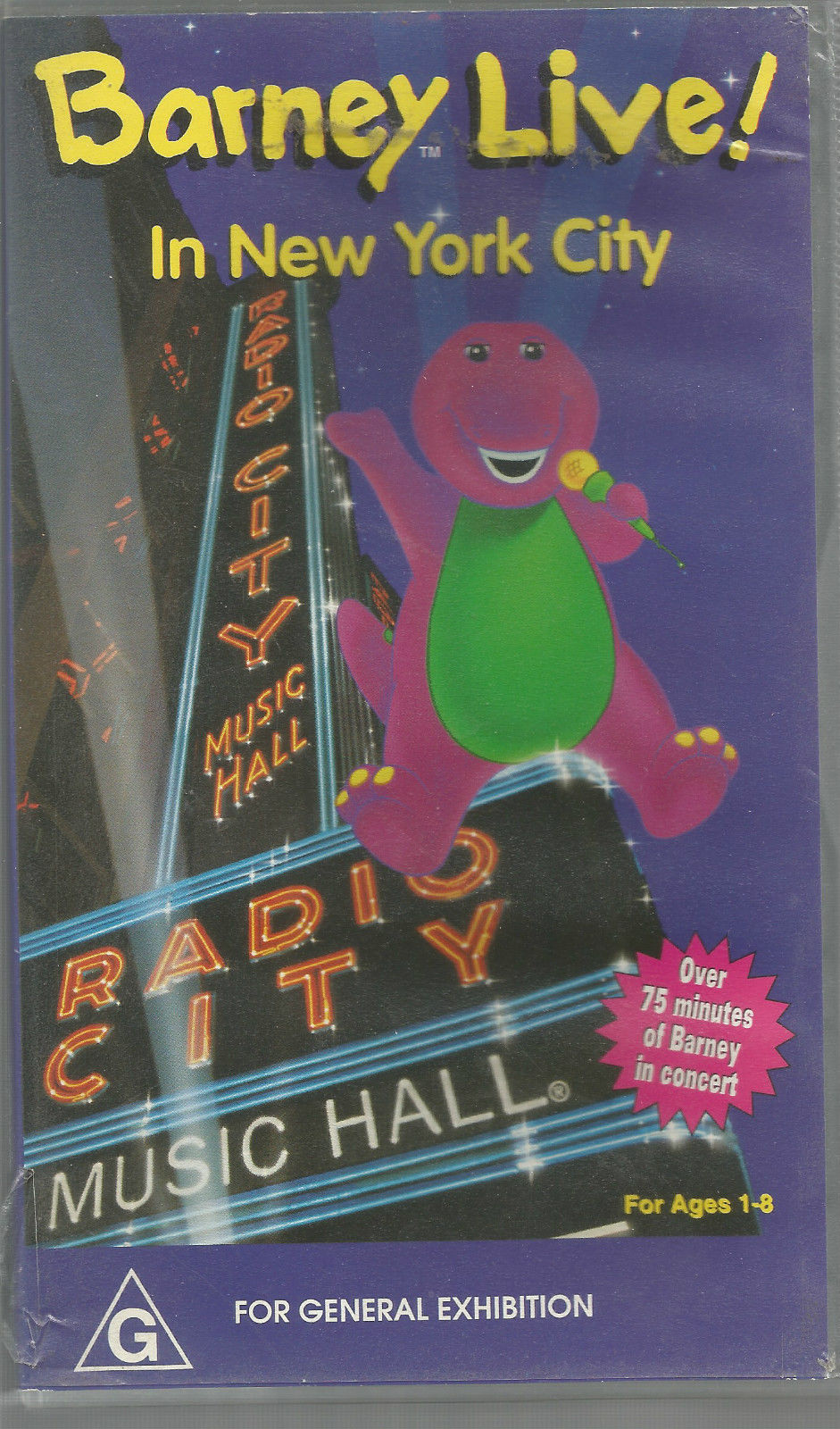 Opening To Barney Live In New York City (Australian VHS
