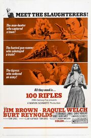 1969 - 100 Rifles Movie Poster -1