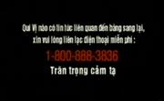 Report Video Tape Piracy Hotline Screen in Vietnamese (1997-2007)
