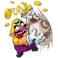 Wario Shakes the Bag of Coins