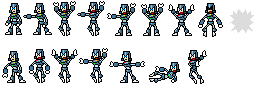 Adventure Man Sprites by John Harry Bob Dahn