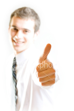 Ist2 3070758 happy student or businessman with affirmative gesture