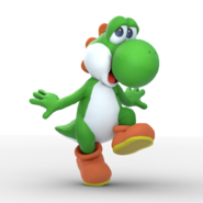 Yoshi brawl render remake by unbecomingname dd8jnmi