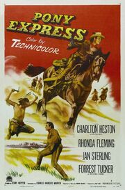 1953 - Pony Express Movie Poster