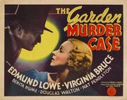1936 - The Garden Murder Case Movie Poster