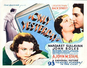 1933 - Only Yesterday