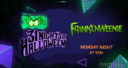 Disney XD Toons 31 Nights of Halloween Frankenweenie Promo 2019