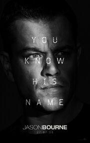 2016 - Jason Bourne Movie Poster
