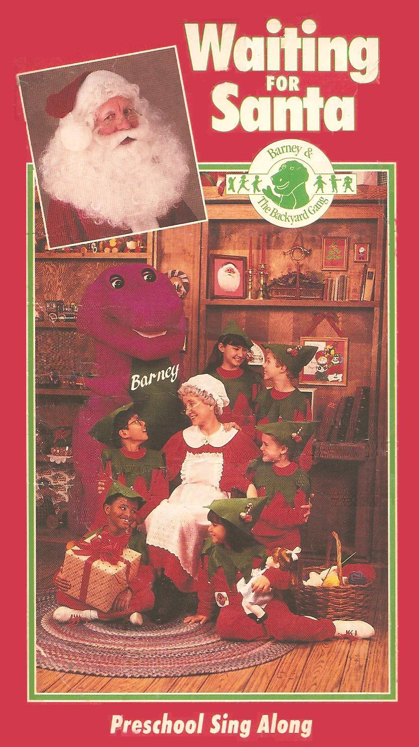 opening to barney and the backyard gang waiting for santa 1990