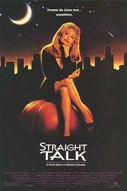 1992 - Straight Talk Movie Poster