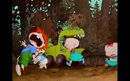 Rugrats are frightened by a strange noise