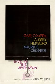 1957 - Love in the Afternoon Movie Poster