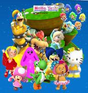 Hello yoshi 3D World page